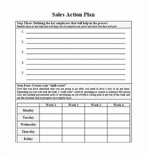 sample sales plan 9 example format With sales manager action plan template