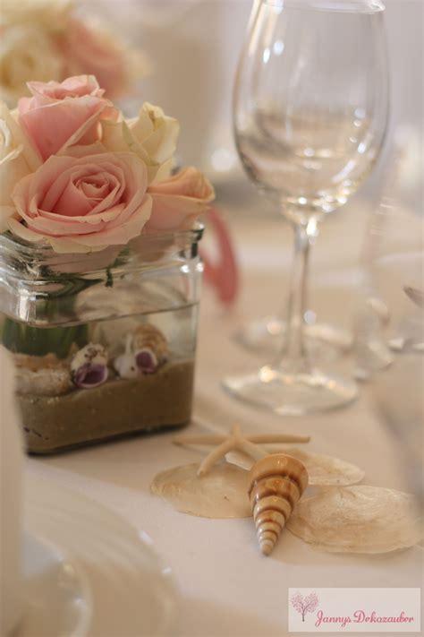 Tischdeko Hochzeit Hochzeitsdeko Maritim Rosa Muscheln
