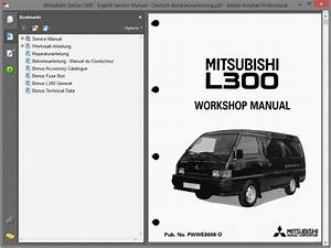 Mitsubishi Delica L300 - English Service Manual