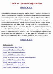Drake Tr7 Transceiver Repair Manual By Celiawray
