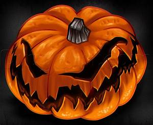 Drawing A Jack O Lantern Step By Step Step By Step