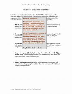 Resistance Assessment Worksheet