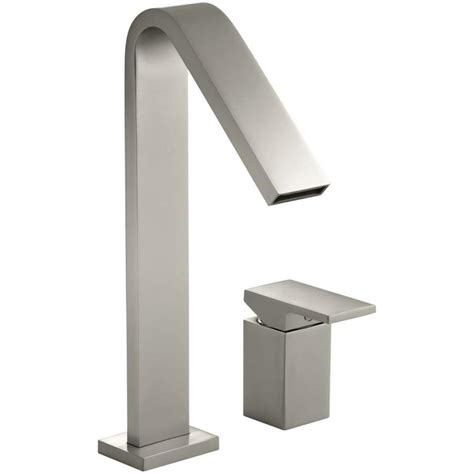 kohler loure freestanding tub filler shop kohler loure vibrant brushed nickel 1 handle single