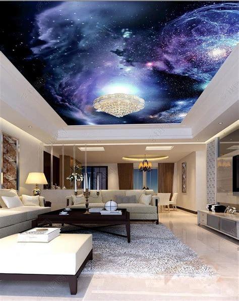 etoile plafond chambre 3d papier peint personnalisé photo plafond chambre murale
