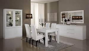 Miroir de salle à manger design 140 cm laqué blanc Cristal Miroir Autres meubles SALLE A