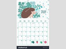 July 2018 Calendar Cute yearly printable calendar
