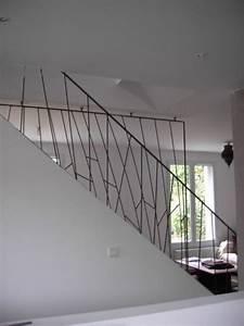 Fabriquer Son Escalier : garde corps en acier 3 mobilier pinterest garde ~ Premium-room.com Idées de Décoration