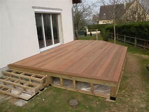 terrasse bois sur pilotis With comment faire une terrasse bois sur pilotis
