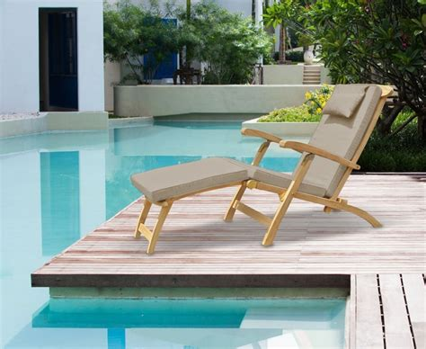 Teak Steamer Chair Fittings by Halo Teak Steamer Chair With Free Cushion Brass Fittings