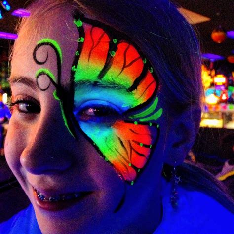 Neon or glow in the dark face paint is great for kids of ...