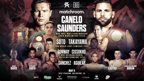 Maybe you would like to learn more about one of these? Canelo vs Saunders card shaping up: Elwin Soto vs Katsunari Takayama plus more fights announced ...
