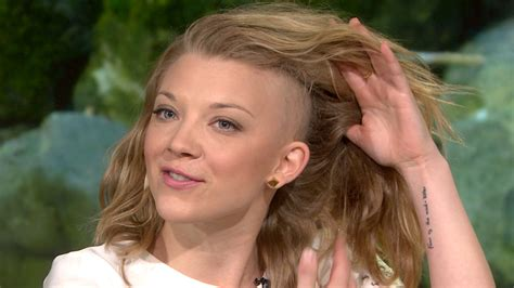 Natalie Dormer Shave by Of Thrones Natalie Dormer A Cut Above With