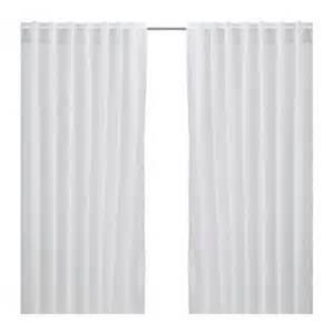 ikea vivan curtains drapes white 2 panels