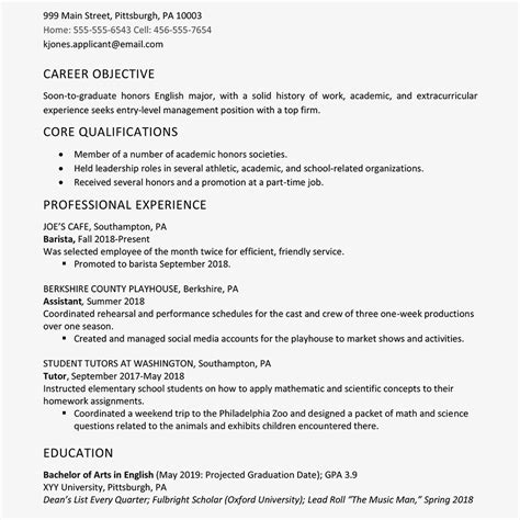 high school graduate resume exle work experience
