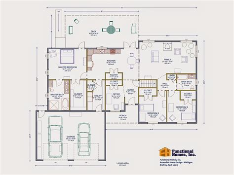 3-bedroom Wheelchair Accessible House Plan