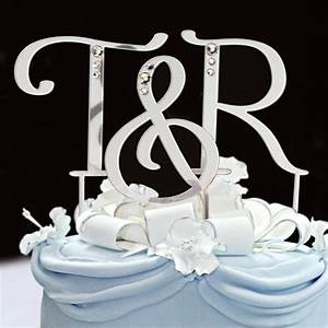 initial cake toppers letter cake topper sincerity weddings With wedding cakes with letter toppers