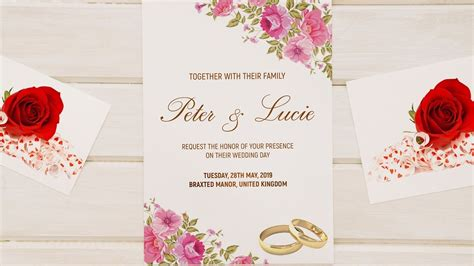 How To Design a WEDDING INVITATION CARD Photoshop