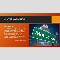 An Education In Motivation