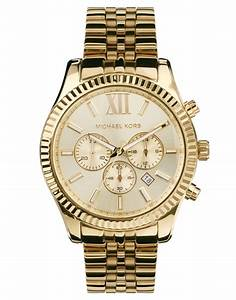 Michael kors Mk8281 Lexington Gold Chronograph Watch in ...