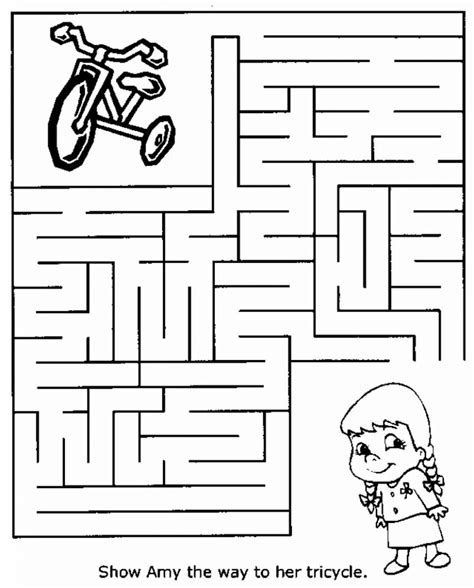easy mazes printable mazes  kids  coloring