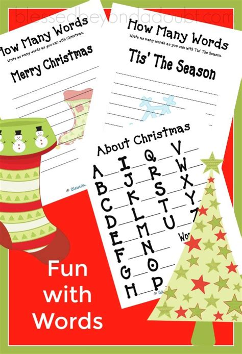 Free Fun With Words  Christmas Edition  Blessed Beyond A Doubt