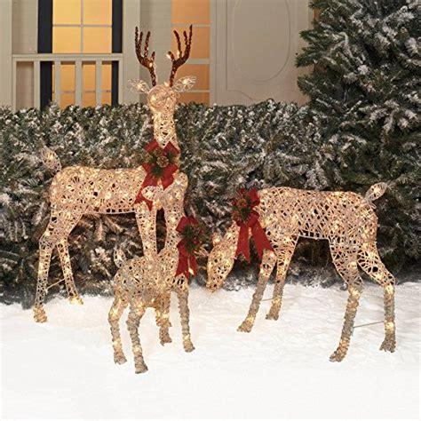 holiday time christmas decor set of 3 woodland vine deer