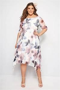 Bon Price Mode : yours london robe ivoire fleurs col b nitier grande taille 44 60 ~ Eleganceandgraceweddings.com Haus und Dekorationen