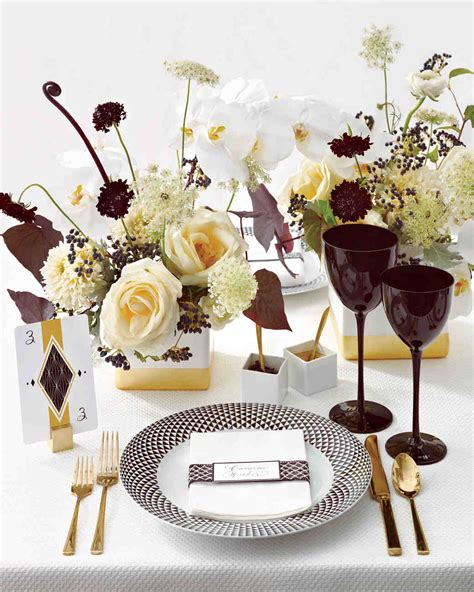 Wedding Colors Black, White, And Gold  Martha Stewart