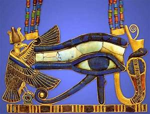 Egypt Picture - Necklace with Pectoral Wedjat Eye