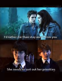 Funny Harry Potter and Twilight