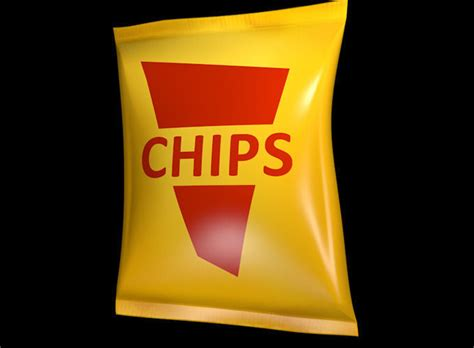 model potato chips bag cgtrader