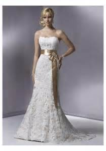 strapless mermaid wedding dresses lace strapless slight mermaid wedding gown with sashwedwebtalks wedwebtalks