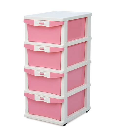 plastic storage cabinets india chest of 4 drawers in pink buy online at best price in