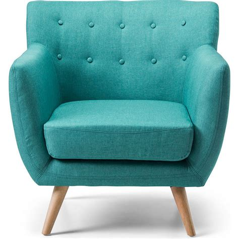 scandinavian retro fabric lounge armchair  teal buy