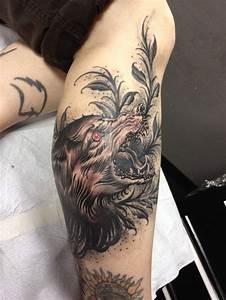 Tatouage Loup Graphique : tattoo avec un loup inkage ~ Mglfilm.com Idées de Décoration