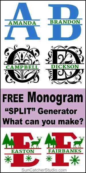 split monogram maker   svg format cricut monogram monogram maker