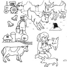 top  farm coloring pages  toddler  love  color