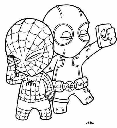 Deadpool Coloring Pages Printable Spider