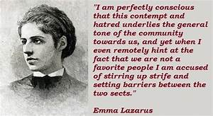 Self confidence... Emma Lazarus Famous Quotes