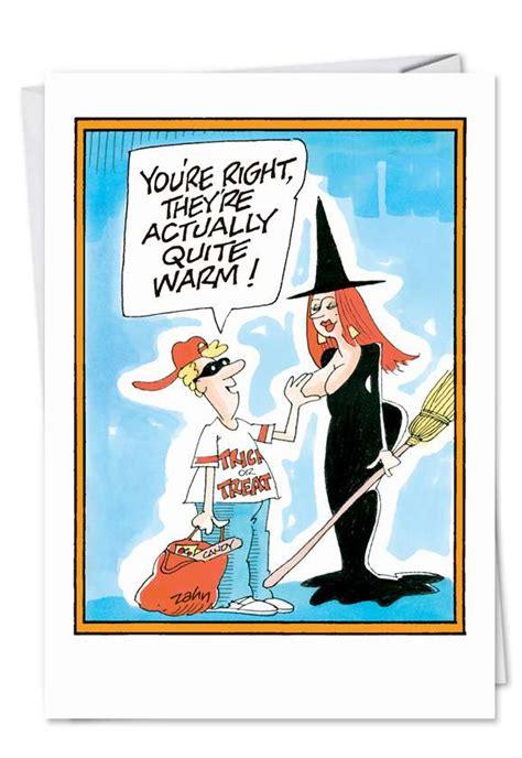witch tit cartoon halloween card zahn