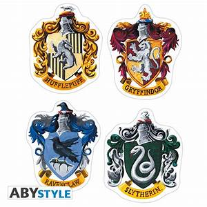 HARRY POTTER Stickers 16x11cm/ 2 planches Hogwarts Houses X5 Abysse Corp