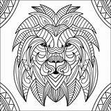 Lion Coloring Lions Head Mandala Patterns Adults Children Adult Enfant Printable Colorier Drawing Incredible Funny Justcolor Library sketch template