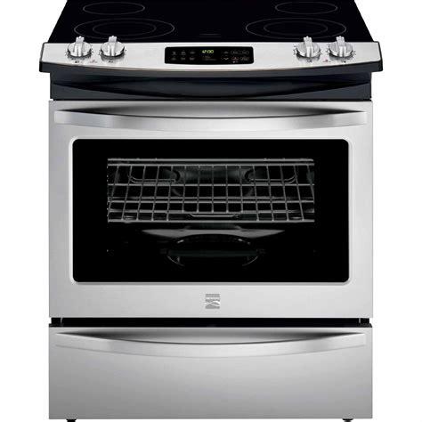 kenmore electric cooktop kenmore 42533 4 6 cu ft slide in electric range w