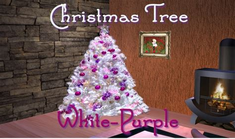 second marketplace tree white purple