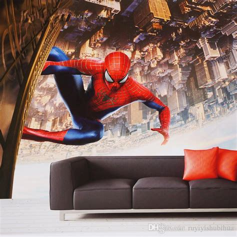 spider man wall mural custom  wallpaper super hero photo