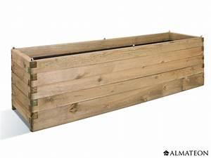 Bac En Bois Pour Plantes : bac fleurs rectangulaire en bois ol a 180 grande ~ Dailycaller-alerts.com Idées de Décoration