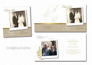 Faire Part Anniversaire 50 Ans : modele faire part anniversaire mariage 50 ans document ~ Edinachiropracticcenter.com Idées de Décoration