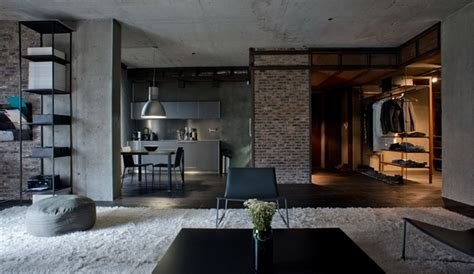 stunning bachelor houses ideas industrial meets nature in this remarkable loft in kiev