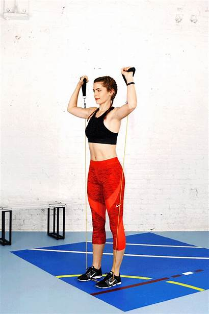 Resistance Bands Exercises Arm Challenge Band Press