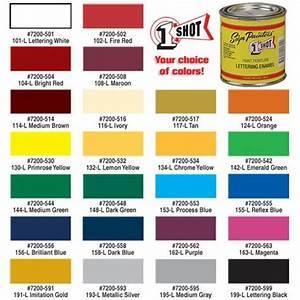 1 shotr lettering pinstripe enamel paint tp tools With one shot lettering enamel color chart